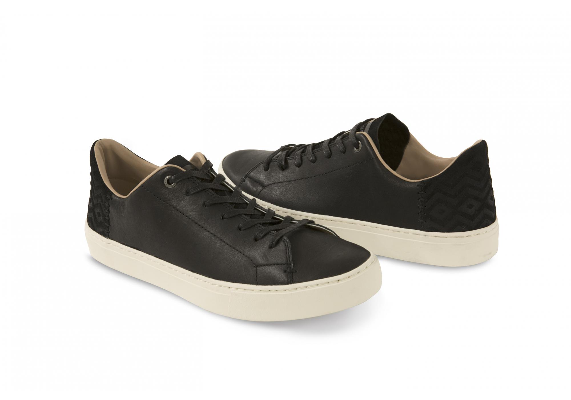 Čierne pánske kožené tenisky TOMS Lenox 4f111ae1798