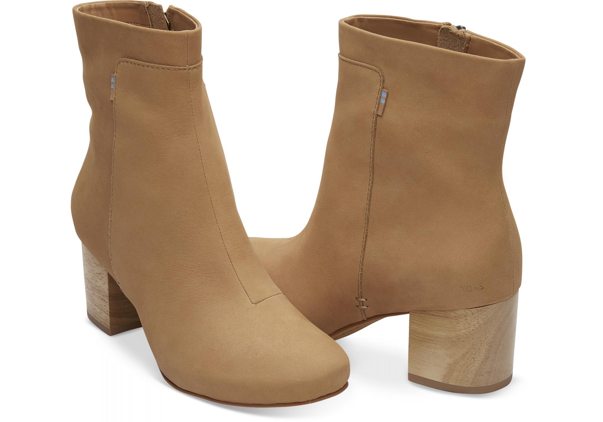 829671e65087a dámské hnědé kotníkové boty TOMS Evie   Urbanlux