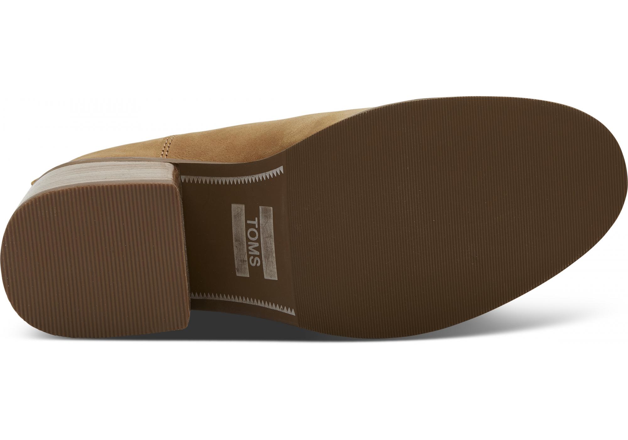 d7e405d6b3df Dámske svetlohnedé topánky na podpätku TOMS Leather Esme