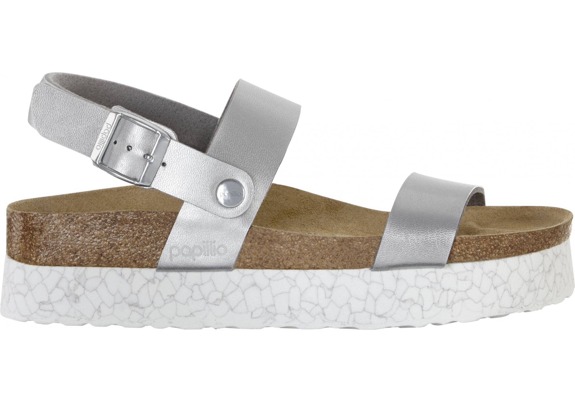 b457397db772 Strieborné sandále Birkenstock Cameron Birko-Flor Marble