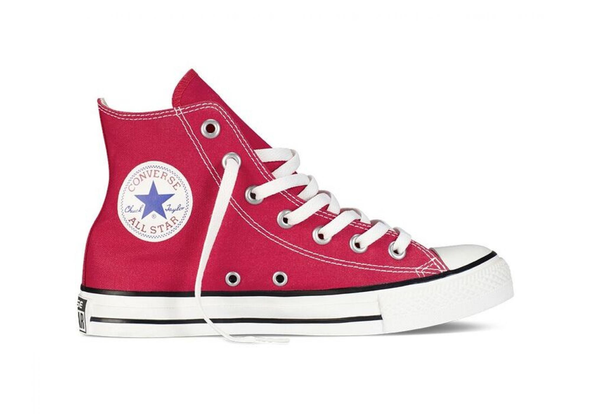Červené Converse Chuck Taylor All Star Hi 2b96f7863a