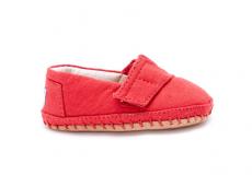 Detské červené TOMS Tiny Crib Alpargata