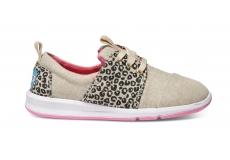 Dětské béžovo-černé tenisky TOMS Leopard Del Rey Youth