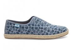 Dámske modré tenisky TOMS Floral Palmera