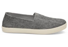 Pánske šedé slip-on TOMS Chambray Avalon