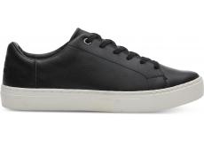 Dámske čierne tenisky TOMS Leather Lenox