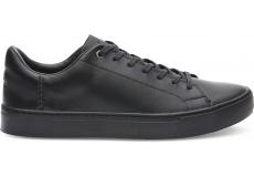 Pánske čierne tenisky TOMS Leather Lenox