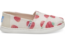 Detské béžové TOMS Strawberries Seasonal Classics Youth Alpargatas