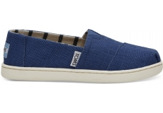 Detské modré TOMS Venice Collection Youth Alpargatas