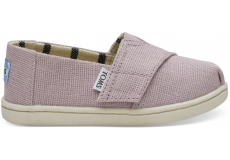 Detské světle lila TOMS Venice Collection Tiny Alpargatas