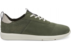 Pánske zelené tenisky TOMS Suede Cabrillo