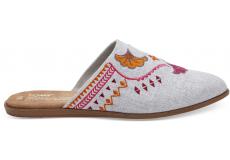 Dámske sivé papuče TOMS Chambray Jutti Mule