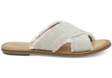 Dámske krémové sandály TOMS Metallic Viv