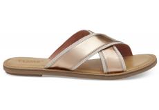 Dámske zlatoružové sandály TOMS Specchio Viv