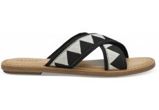 Dámske čiernobiele sandály TOMS Tribal Viv