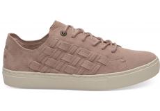 Dámske ružové tenisky TOMS Suede Basketweave Lenox