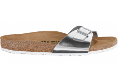 Strieborné papuče Birkenstock Madrid Leather