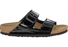 Čierne papuče Birkenstock Arizona Birko-Flor Patent