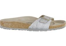 Strieborné papuče Birkenstock Madrid Washed Suede