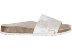 Biele papuče Birkenstock Cora Leather Ornaments