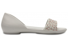 Crocs Lina Embellished Dorsay Pearl White/Rose Gold W5