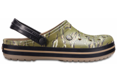 Crocband Graphic Clog Dark Camo Green M4/W6