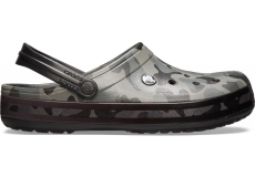 Crocband Seasonal Graphic Clog Slate Grey/Black M10W12