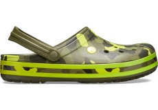 Crocband Seasonal Graphic Clog Army Green/Citrus M10W12
