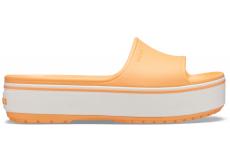 Crocband Platform Slide Cantaloupe/White M4W6