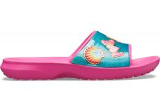 CrocsFL BeachFun Slide K Fuchsia