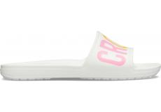 CrocsSloane Logo Mania Slide W White W10