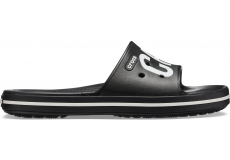 Crocband III Printed Slide Black/White