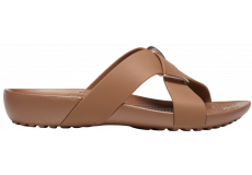 Crocs Serena Cross Band Slde Bronze