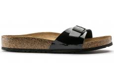 Čierne papuče Birkenstock Madrid Birko-Flor Patent