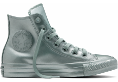 Strieborné Converse Chuck Taylor All Star Metallic Rubber Hi