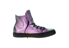 Fialové Converse Chuck Taylor All Star Iridescent Leather Hi