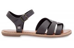 Dámske čierne sandálky TOMS Leather Zoe