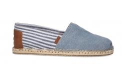 Modré pánské TOMS Stripe Alpargatas s pruhy