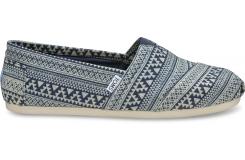 Modro-šedé pánske TOMS Tribal Alpargatas