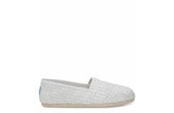 Dámske biele Toms Crochet Lace Seasonal Classics Alpargatas