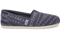 Pánske modré TOMS Batik Stripe Seasonal Classic Alpargatas