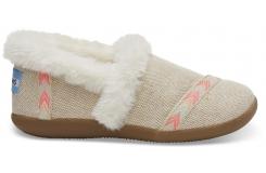 Detské krémové papuče TOMS Youth Burlap
