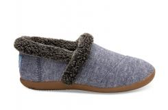 Detské modré papuče TOMS Youth Chambray