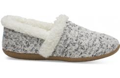 Dámske sivo-biele papuče TOMS Wool