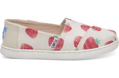 Detské béžové TOMS Strawberries Seasonal Classics Youth Alpargata