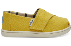 Detské žlté TOMS Venice Collection Tiny Alpargata