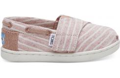Detské růžové TOMS Tiny Stripe Biminis