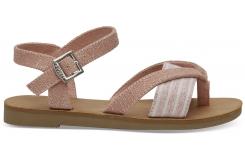 Detské ružové sandálky Metallic TOMS Lexie