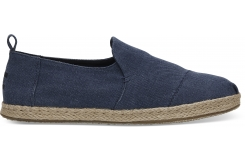 Pánske modré TOMS Washed Canvas Deconstructed Alpargatas