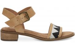 Dámske hnedé sandálky TOMS Leather Tribal Camilia